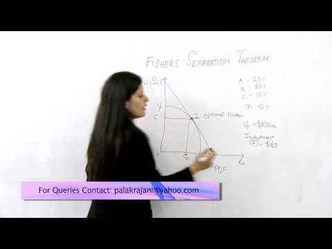 Fishers Separation Theorem – By Palak Rajani