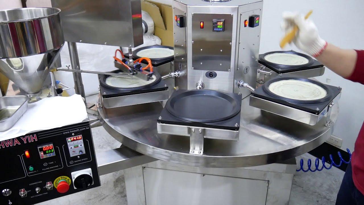 HY-910S-C 小型自動千層蛋糕蛋皮機 Automatic Mille Crepe Cake Machine
