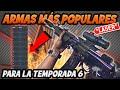 Las ARMAS MÁS USADAS en la TEMPORADA 6 de WARZONE MEJORES ARMAS