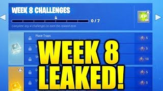 FORTNITE SEASON 5 WEEK 8 CHALLENGES LEAKED! WEEK 8 ALL CHALLENGES EASY GUIDE WEEK 8 CHALLENGES!