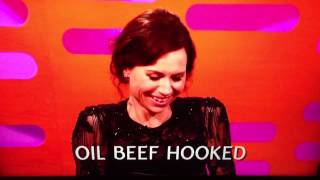 Funny racehorse names! - hilarious - Graham Norton /Minnie Driver (Refused names)