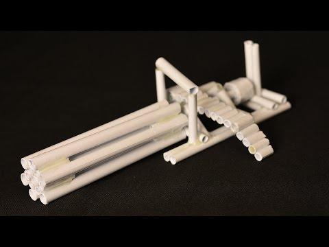 How to make a six-barreled machine gun. Easy paper minigun - Tutorial