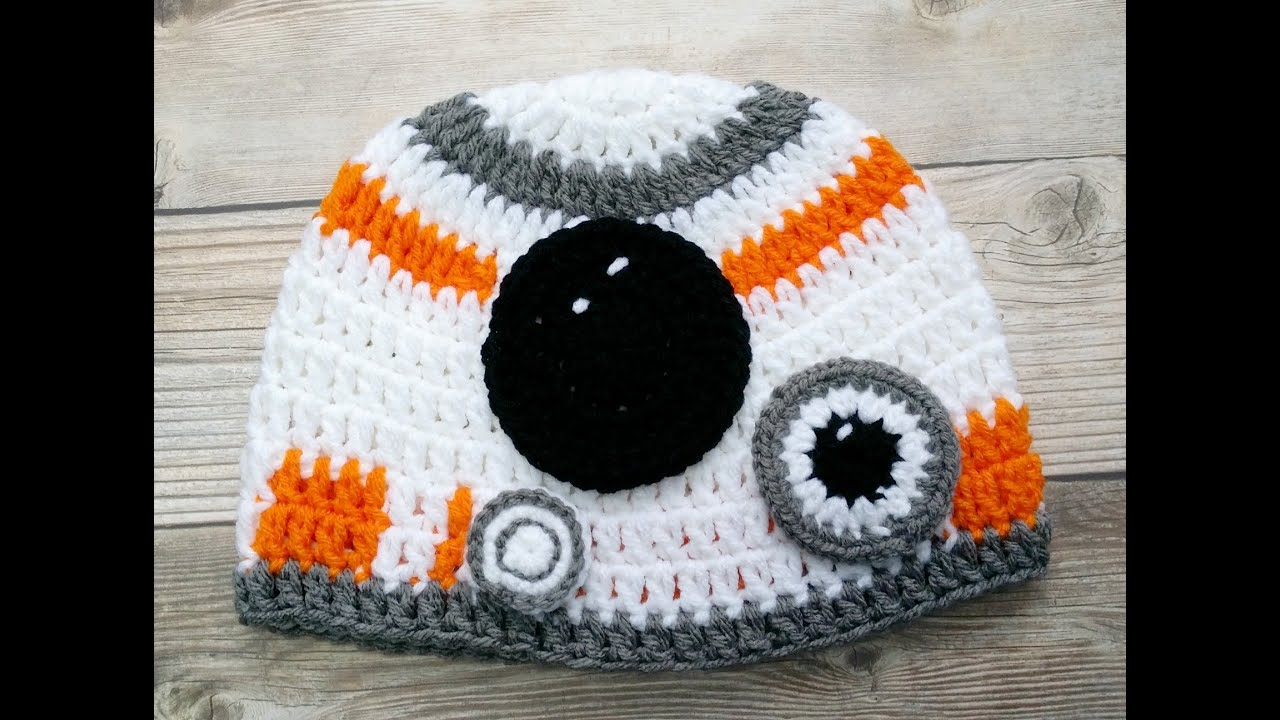 Crochet Hat Inspired By Star Wars The Force Awakens Video 3
