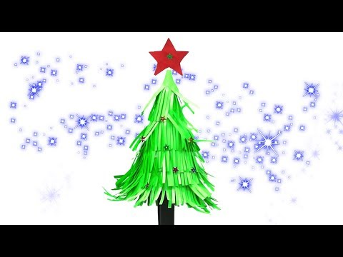 How to make Christmas tree in Malayalam by paper | Xmas tree by paper