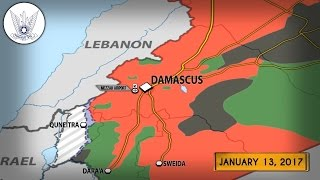 13 января 2017. Военная обстановка в Сирии. Израиль разбомбил склады САА. Русский перевод.