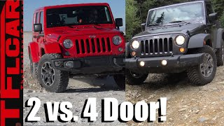 Jeep Wrangler 2 Door vs 4 Door Compared, Contrasted & Reviewed!