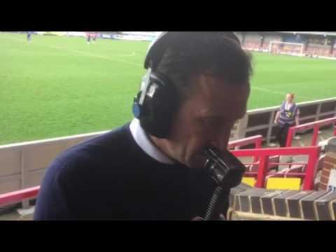 Justin Edinburgh speaks to BBC Radio Northampton after the win at AFC Wimbledon