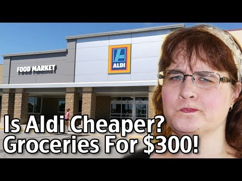 Is Aldi Cheaper? Groceries for $300! Aldi Tips!