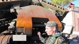Военнопленные украинцы ремонтируют подбитую технику для ополченцев Донбасса