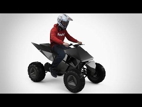 Как сделать Tesla Cyberquad Квадроцикл своими руками