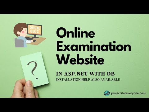 Online Examination / Quiz Project Website in ASP.Net and C#.Net with Timer