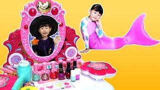 인어공주 미미 화장대 마법 장난감 놀이 Mermaid Princess Makeup & Toy 라임튜브