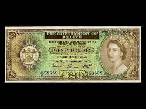 All Belize Dollar Banknotes - 1974 to 1976 Elizabeth II Issues