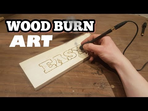 Wood Burning Art with 12 volts | DIY |