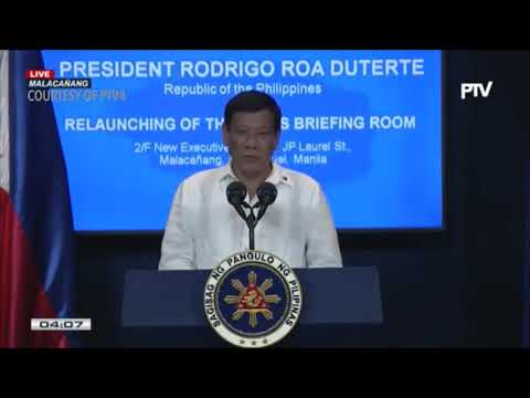 Duterte falsely claims that CIA funds Rappler