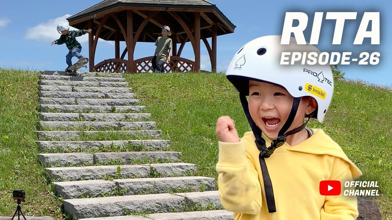 RITA / EP26 6月のリタのスケボー記録 Insta clip / 3歳 3YO SKATER