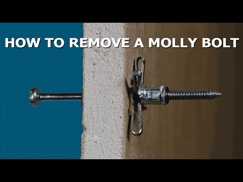 How To Remove Molly Bolt Anchors Without Damaging Drywall Youtube