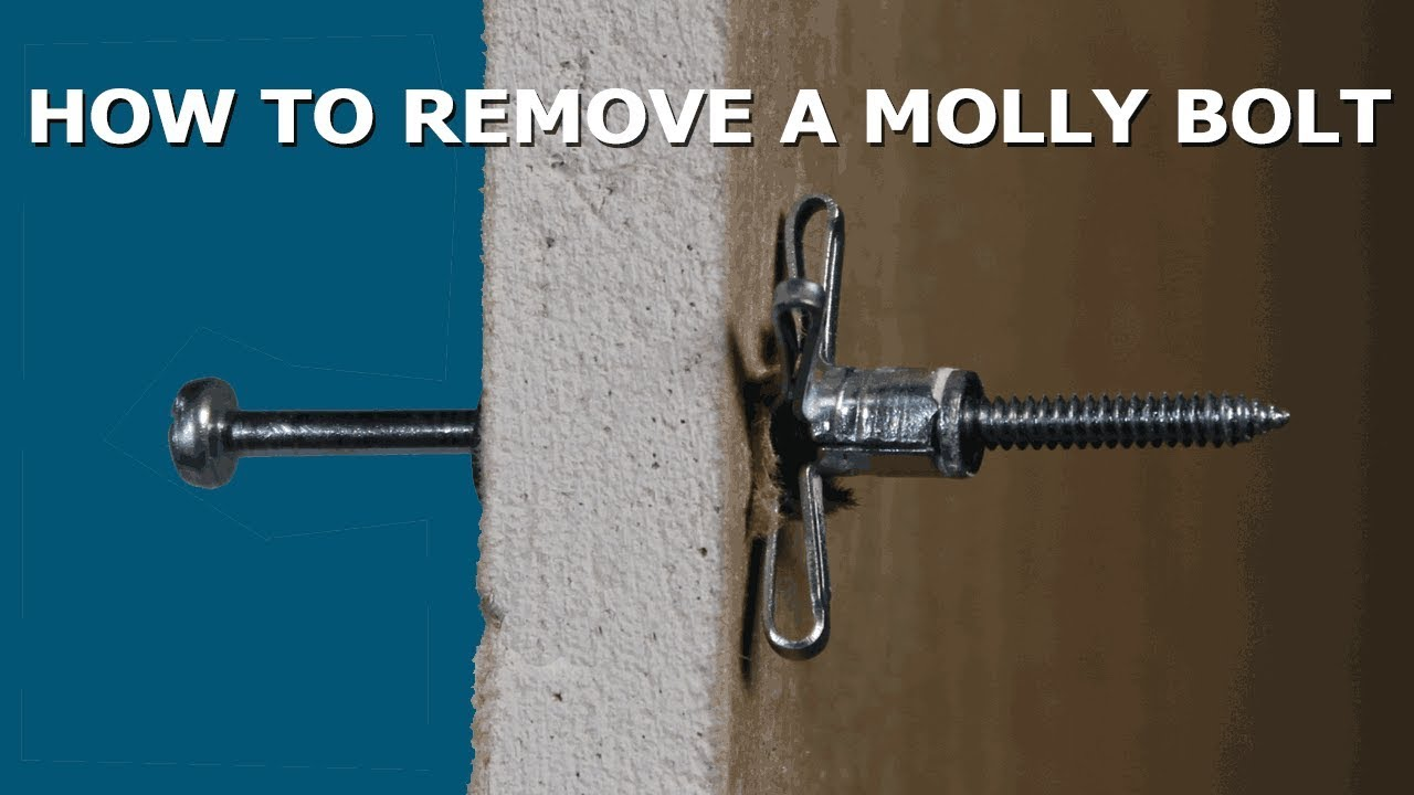 How To Remove Molly Bolt Anchors