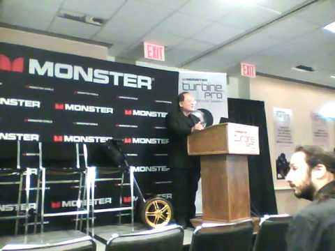 Monster Cable Turbine Pro Earbuds Presentation AES NYC 2009