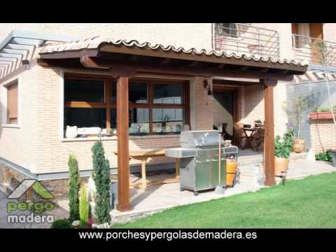 Porches de madera pergomadera youtube - Fotos de porches ...