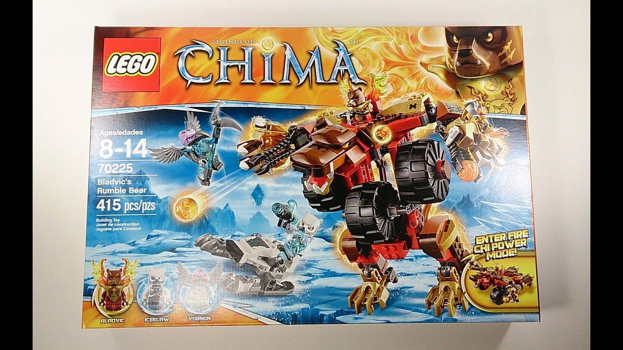 LEGO Chima Bladvic's Rumble Bear Review Set 70225!