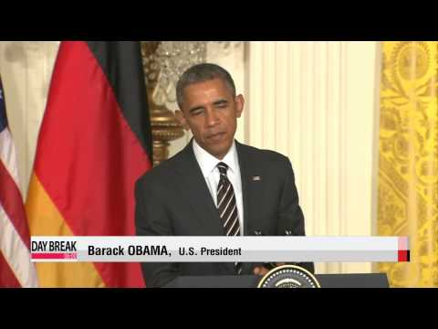 Obama, Merkel show united front amid differences over Ukraine crisis   오바마-메르켈,