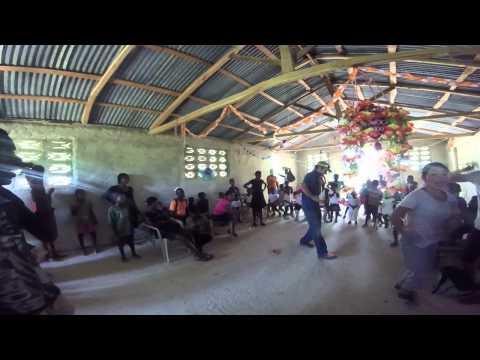 Me dancing in Haiti