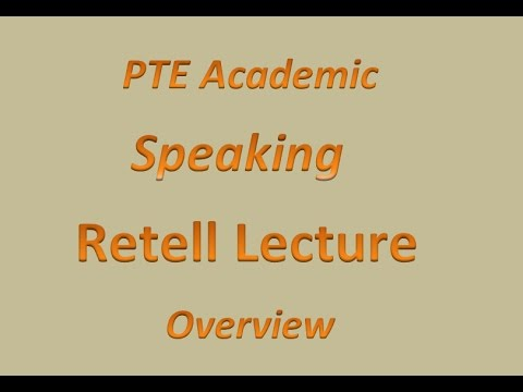 PTE Test- Speaking, Retell Lecture (PTE Exam Training in Hindi)