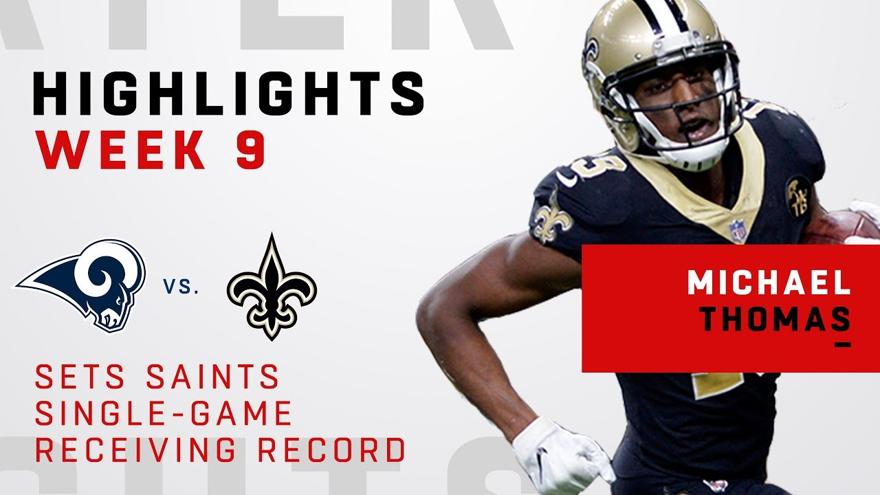 New Orleans Saints receiver Michael Thomas sets new single ...