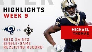 Michael Thomas Sets Saints Single-Game Receiving Record!