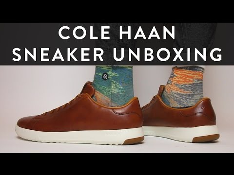 Cole Haan Grandprø Tennis Leather Sneaker Unboxing | On Feet | The New Collections | Llomotes