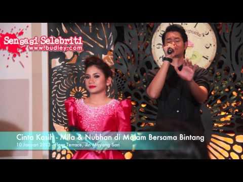 Cinta Kasih   Mila & Nubhan di Malam Bersama Bintang Lagu Tema Cinta Qaseh