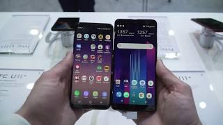 Samsung S8 vs HTC U11 Plus Comparison/Quick test/Side by Side/Camera selfie picture
