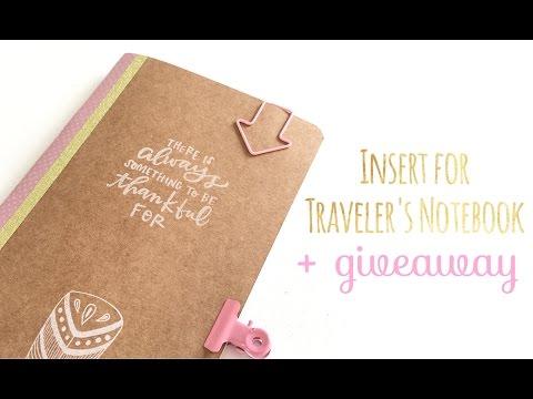 Cómo hacer una libreta para Traveler's Notebook - TUTORIAL DIY + Giveaway