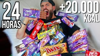 24 HORAS COMIENDO CHOCOLATE   +20.000 KCAL EN UN DIA
