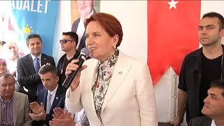 Akşener& 39 den ilk demokrasi çadırı ziyareti