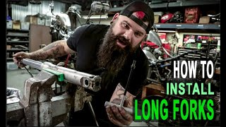 How to Install Long Forks on Honda Shadow Build