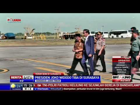 Presiden Jokowi Tiba di Surabaya
