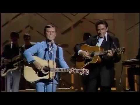 "George Jones & Johnny Cash -  ""White Lightning"""