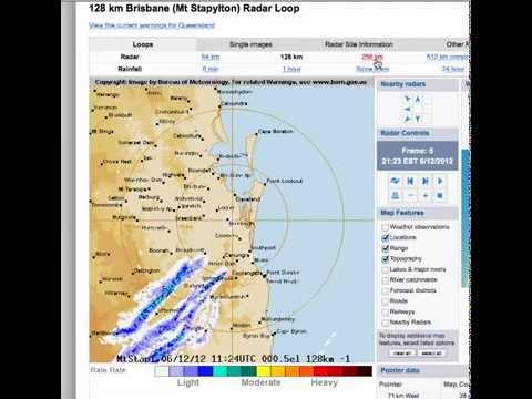 Brisbane radar - strange clouds