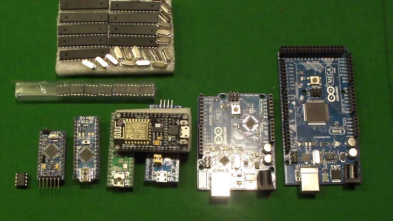 A comparison of many common arduino types and their uses