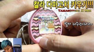 흑백이 아닌 칼라로된 다마고치를 키워보았다! - 허팝 (Tamagotchi X Mix)