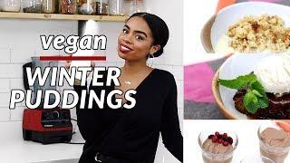 3 EASY DELICIOUS Vegan Winter Puddings   Vegan Baileys Taste Test thumbnail