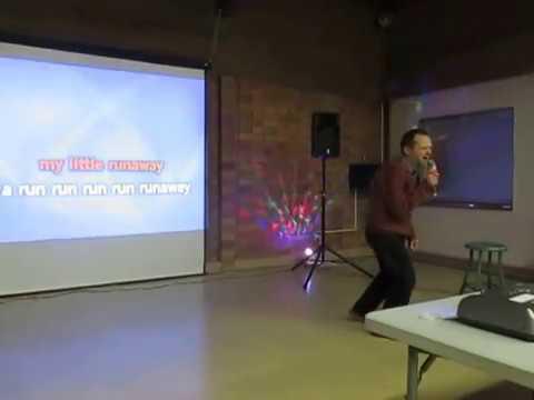 MVI 0491Jim Singing Runaway On Karaoke Night
