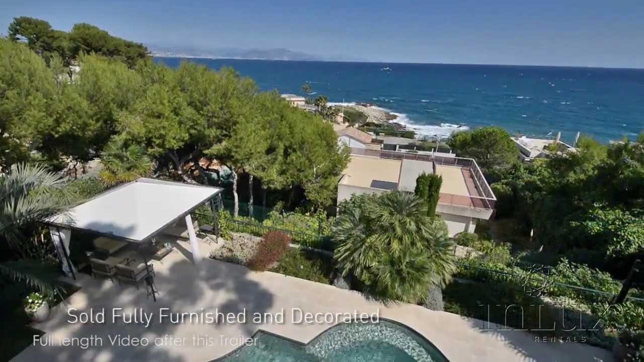 luxury villa on cap d 39 antibes for sale youtube. Black Bedroom Furniture Sets. Home Design Ideas