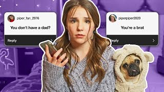 Reading ASSUMPTIONS About Me *I CRIED* (INSTAGRAM Q&A)   Piper Rockelle