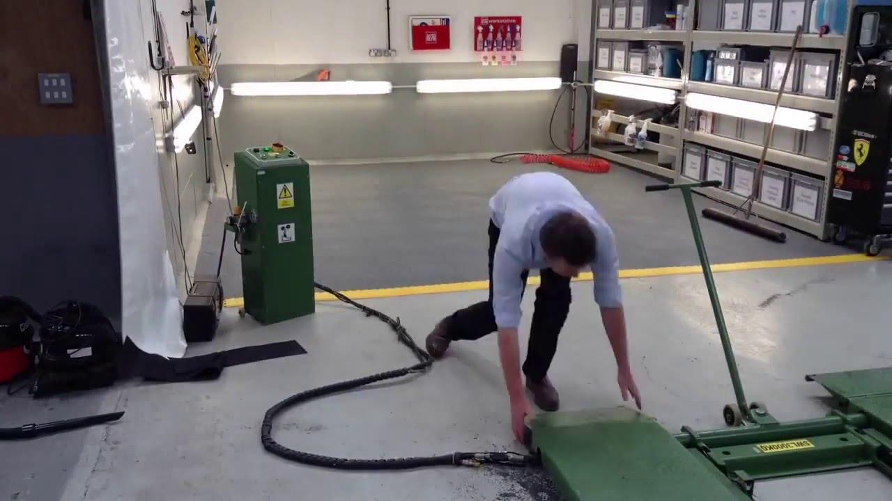 Mototile workshop floor tile installation youtube mototile workshop floor tile installation dailygadgetfo Images