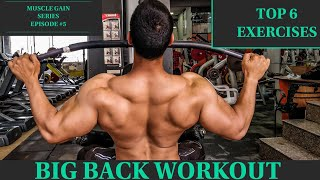 COMPLETE BACK WORKOUT | TOP 6 Best EXERCISES for BIG BACK | Rahul Fitness Official