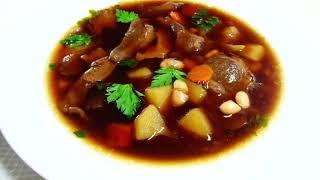 Супы Рецепты. Постный Суп с Фасолью и Грибами Очень Вкусный! и не только в пост.
