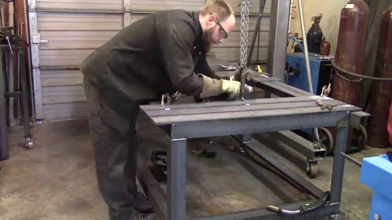 Fixture Welding Table Part 6 Welding Slats Youtube